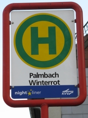 "Haltestelle Palmbach Winterrot ""Nightliner"""